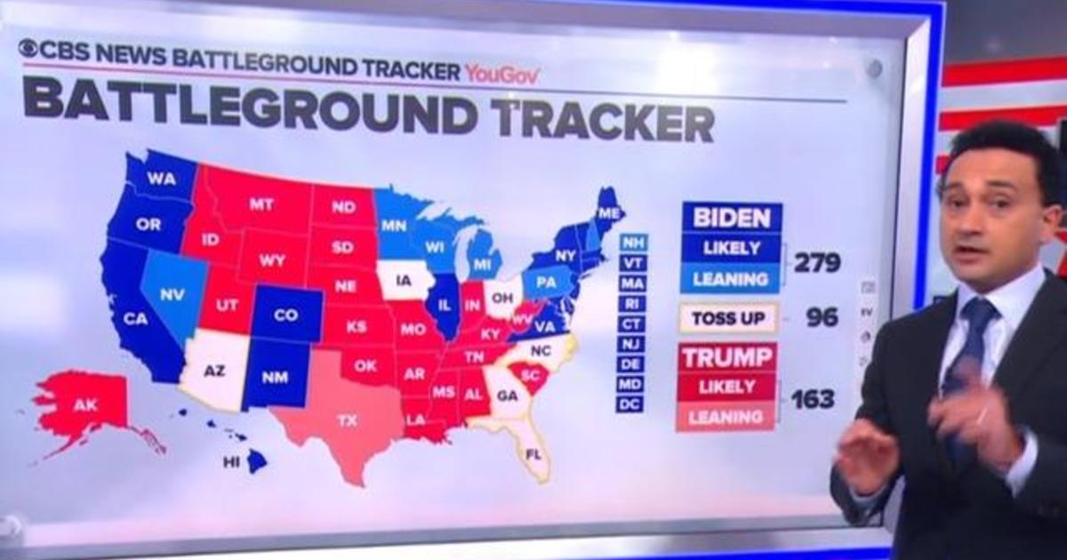 Battleground Tracker: Biden leads, Trump needs Election Day surge to win